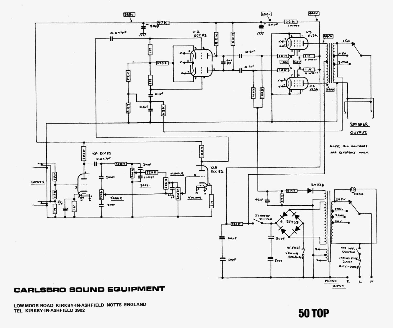 50 S Wiring Diagram: IT-11 Audio » Carslbro 50 TOP