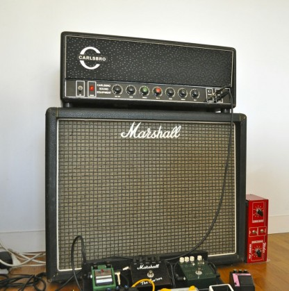 Carlsbro CS60 TC sur Marshall 2045 (2 Greenbacks - 1972)