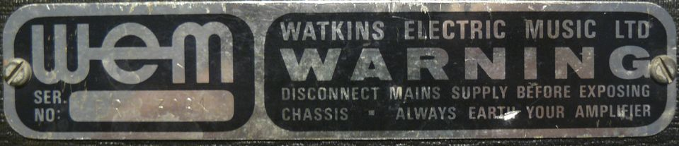 WEM-Plaque